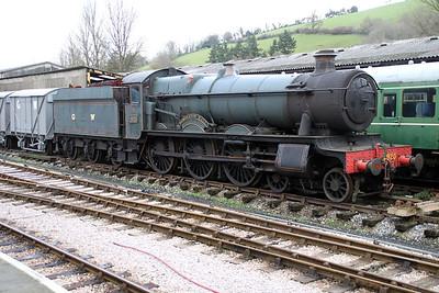 Steam 4920 seen at Buckfastleigh Station on the South Devon Railway.