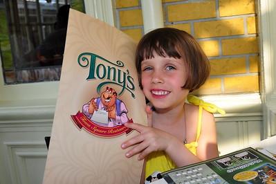 Cailyn at Tony's Restaurant in Magic Kingdom