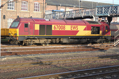 67008 in Doncaster West Yard.