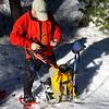 Repairing Judy's snowshoe