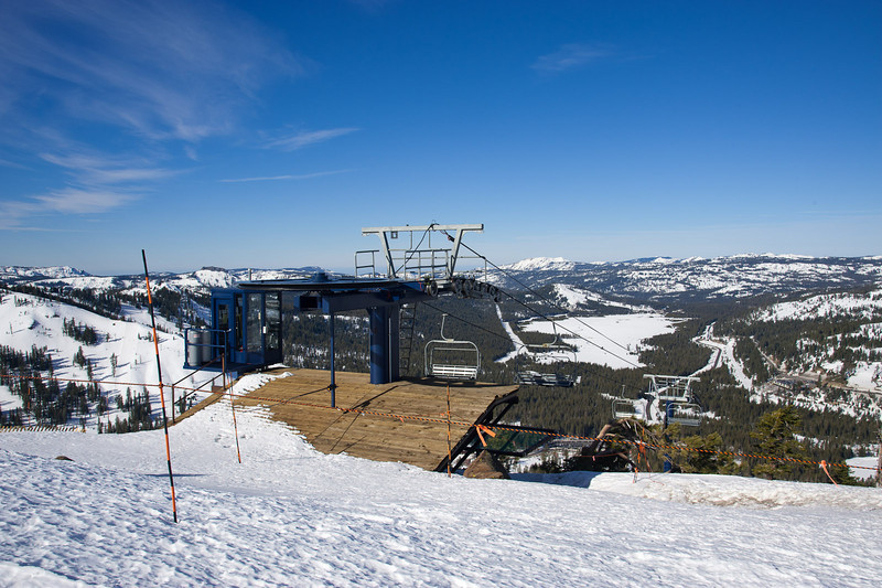 Lift near Mt. Judah - not operating due to lack of snow