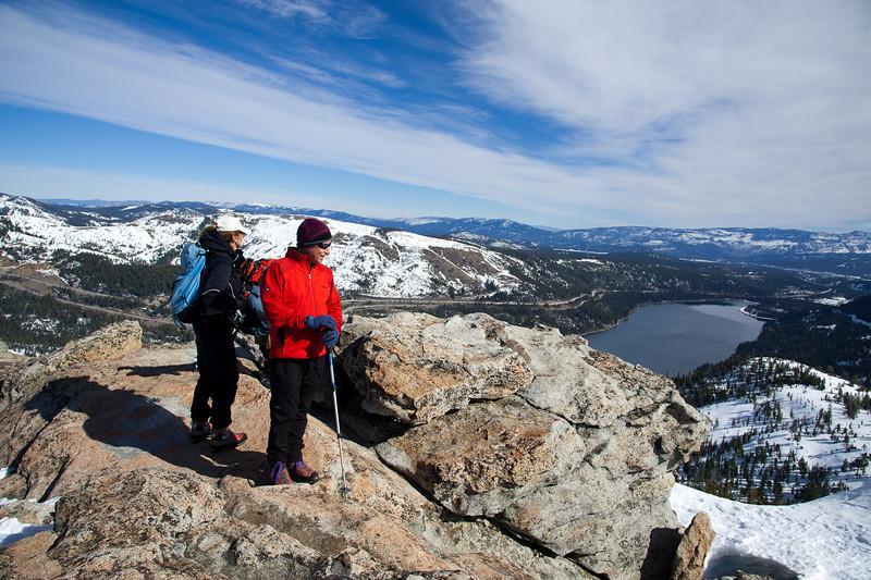 Joe and Judy on Donner Peak