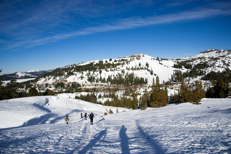 Long shadows, looking north at Donner Ski Ranch