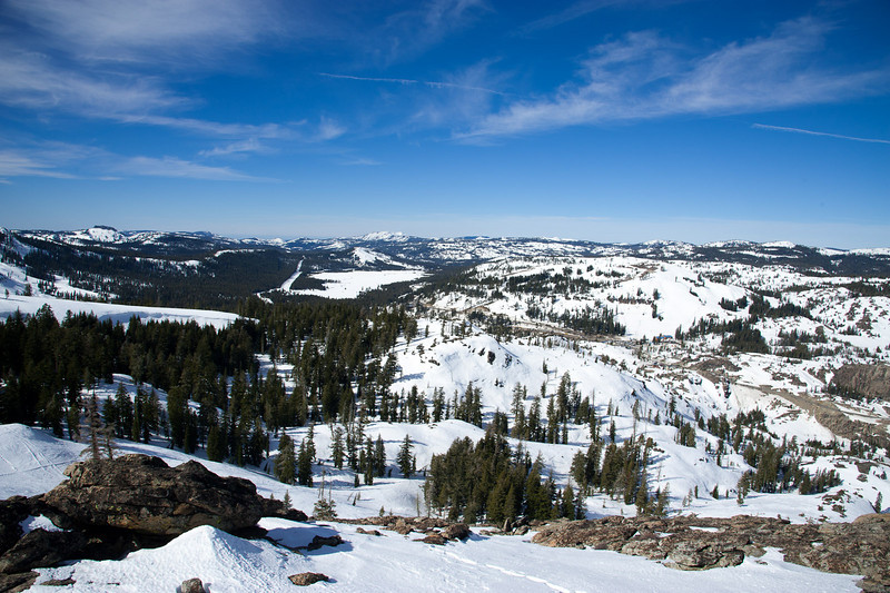 Looking north from Donner Peak