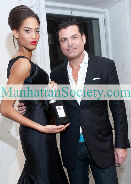 Douglas Hannant, Model attend Douglas Hannant's Fragrance Launch Party on Thursday, February 10, 2011 at The Payne Whitney Mansion, 972 Fifth Avenue, New York City, NY. (PHOTO CREDIT: ©Manhattan Society.com 2011)