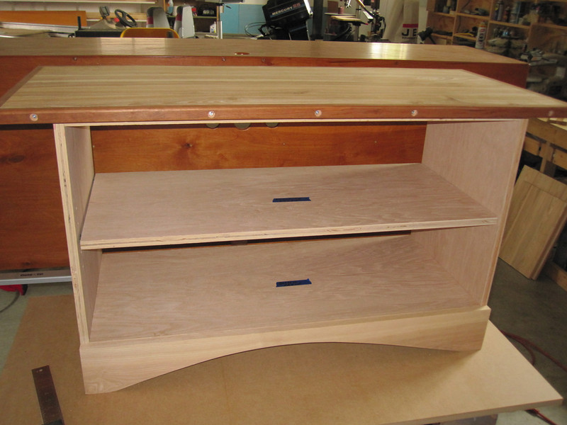 ANOTHER TV STAND CABINET IS IN PROGRESS ABOUT HALFWAY DONE...MAYBE