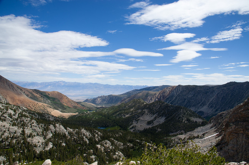 Eastward view, out to the Owens Valley