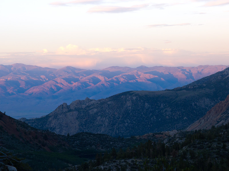 Sunset over the White Mountains