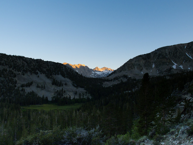 Sunset over Grass Lake meadow