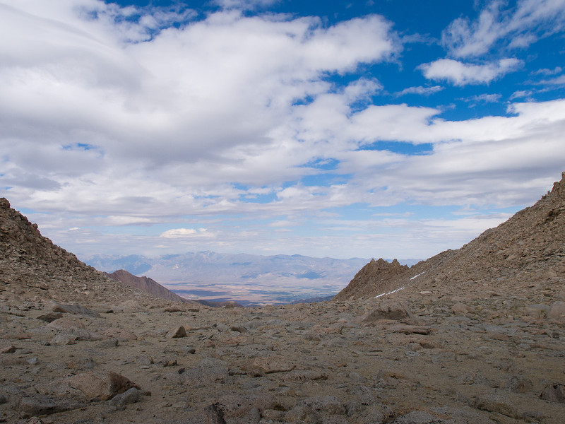 Boulder field below Lamarck Col