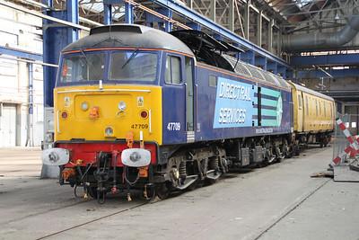 47709 inside Eastleigh Works.