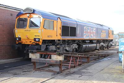 66705 outside Eastleigh Works.