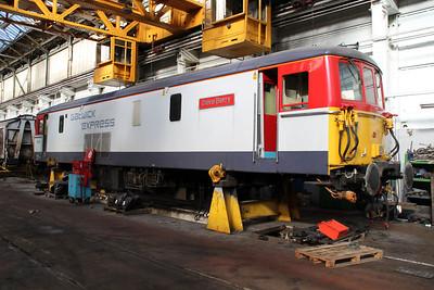 73202 inside Eastleigh Works.