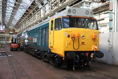 50026 inside Eastleigh Works.