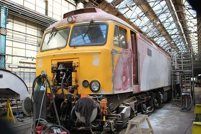 57306 inside Eastleigh Works.