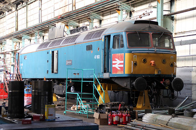 47853 inside Eastleigh Works.