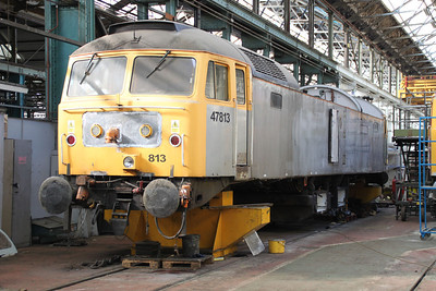 47813 inside Eastleigh Works.