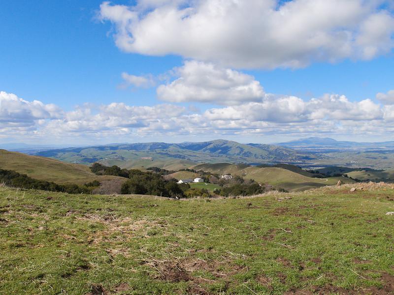 North toward Mt. Diablo