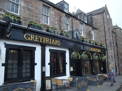 And a pub named after him, just outside the cemetery. As I understand it, he used to present himself at the back door for lunch, every day for 14 years - his only known food during his long vigil.