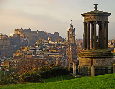 Calton Hill view of Edinburgh