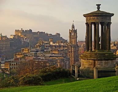 Calton Hill view of Edinburgh