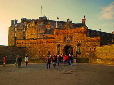 Needless to say, hundreds of people wanted to explore a street once filled with some of the most lethal bacteria in history, so we could not get onto a tour for two hours. Unfortunately, not quite long enough to do justice to Edinburgh's Castle.