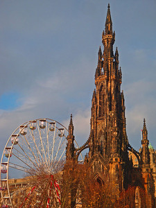 Mum is convinced we're somehow related to the famous Scottish writer, Sir Walter Scott. So this is his memorial, photographed for you Mum! :) Sorry about the ugly Ferris Wheel - the city is being prepared for Hogmanay, their infamous New Years celebrations.