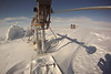 Drill setup after the storm, drift and snow all over.<br /> <br /> Photo: Martin Leonhardt