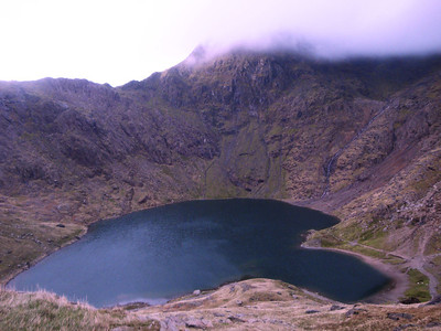 Snowdon path view of Glaslyn