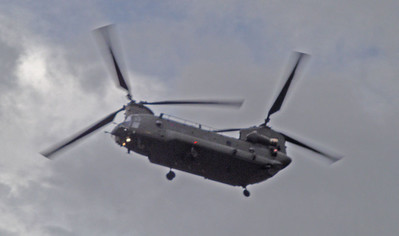 This interesting Chinook kept circling and seemed to be doing mock landings. Either they wanted to borrow my ironing gear and have a go themselves, or were practicing for mountain rescues. Perhaps they were wondering if I needed evacuation on psychological grounds. Unfortunately, extreme ironers are poorly understood.