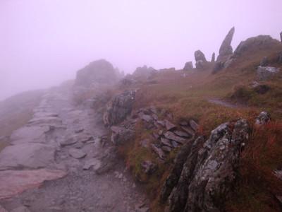 Snowdon path summit ridge 2