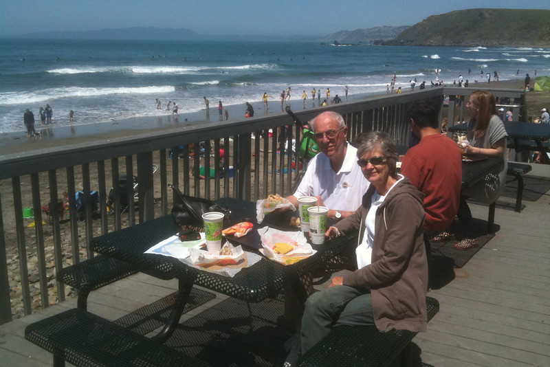 World's best Taco Bell, on the beach in Pacifica
