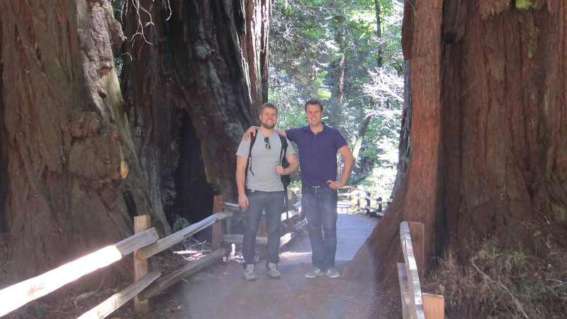 Jm and Davy at Muir Woods