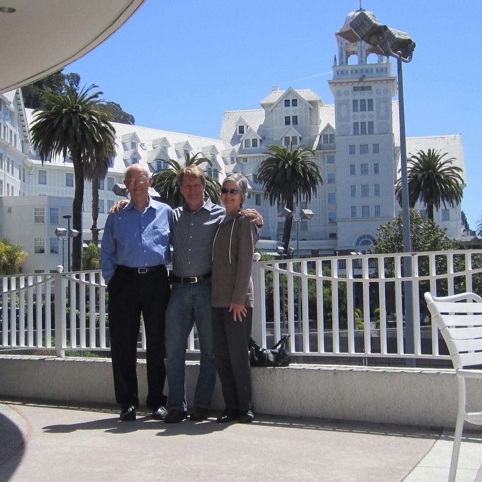 Dad, me, Mom at the Claremont Resort in Berkeley