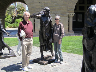 Rodin castings in front of the Stanford Memorial Church