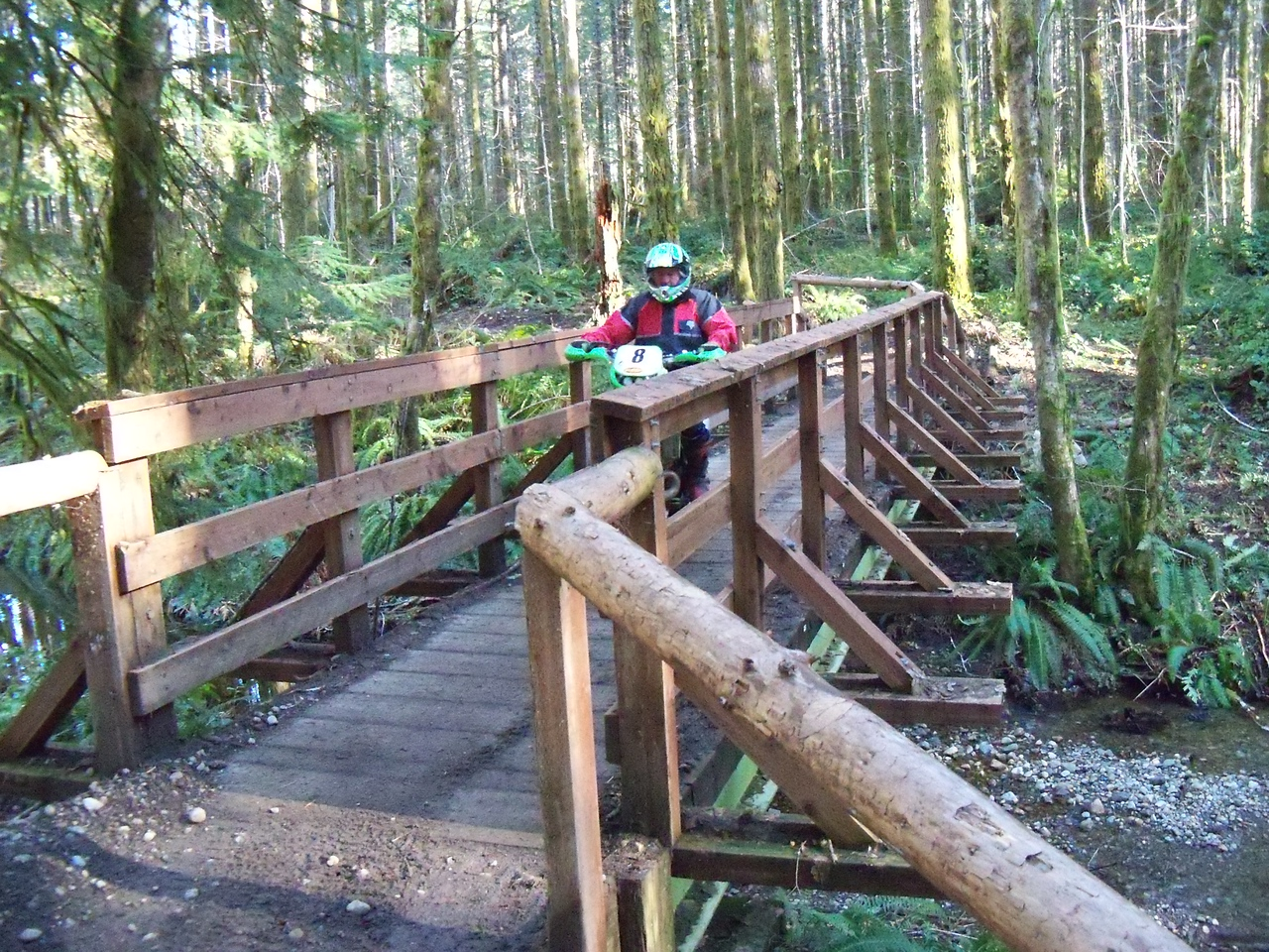 My Brother Gary on the Tahuya River Trail
