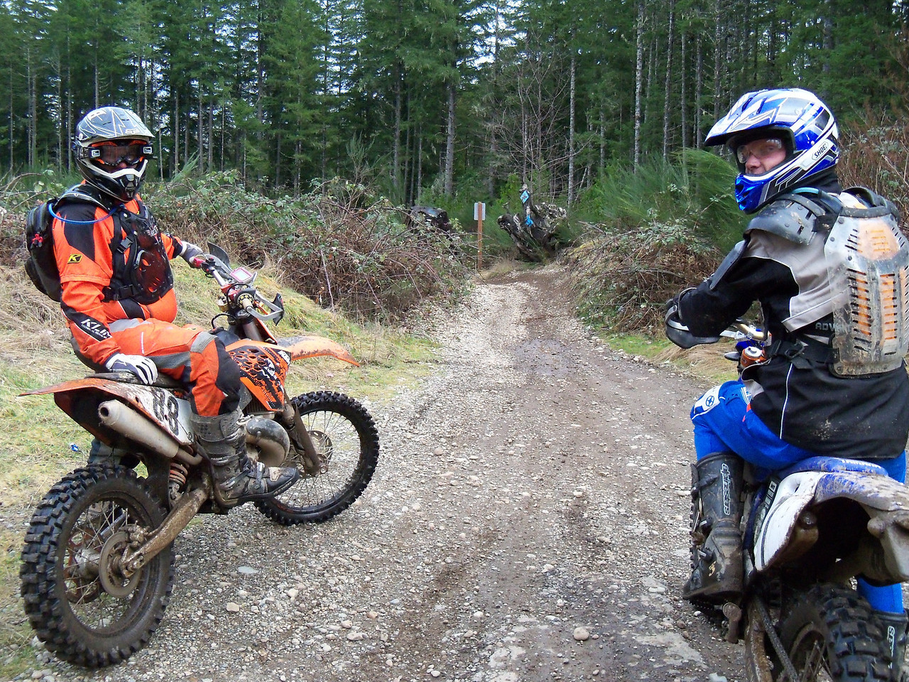 Justin and Garrett at the Start of the ISDE course