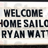 What's your sign?: Ryan Watt was welcomed to Montezuma by a local business sign Thursday afternoon.