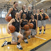 Tribune-Star/Jim Avelis<br /> Regional bound: For the second year in a row the Clay City Girl's basketball team has won the sectional championship and are regional bound this weekend.