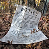 Notice: A placard on Hulman Farm property announces the intent to amend the zoning of said property.