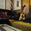 Tribune-Star/Rachel Keyes<br /> Tools Of The Trade: Piles of instruments and cases lined the walls as the musicians celebrated the induction of new members into the Wabash Valley Musician's Hall of Fame.