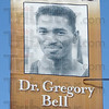 Tribune-Star/Jim Avelis<br /> Honored: Terre Haute native and Olympic gold medalist Greg Bell is one of several Hometown Heroes honored with banners flying from downtown light standards. This banner of Bell is located on the northwest corner of 5th Street at Wabash Avenue.