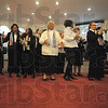 Tribune-Star/Rachel Keyes<br /> Celebrate! Celebrate!: The Shiloh Baptist Choir sings a selection of Celebratory hymns at Grace Temple's Black History Service.