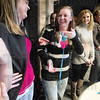 Tribune-Star/Rachel Keyes<br /> Frosting: Megan Jackson was the winner of the cake dive received a free a little frosting of her own in diamond ring courtesy of Rogers Jewelry's and boutique.