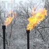 Gas: Gas in burned at the site of the Hulman property oil project Friday morning.
