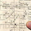 Tribune-Star/Jim Avelis<br /> Around here: This map from the mid 1800's shows several familiar names along what is now French Drive. The Underwood Cemetery is located in Section 20, to the left on the map.