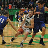 Tribune-Star/Rachel Keyes<br /> Knocked Loose: West Vigo's Cody Thornton struggles to keep hold of the ball as it is stripped away by Rockville's Joel Wittenmyer.
