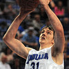 Tribune-Star/Jim Avelis<br /> In the paint: R.J. Mahurin finds himself open for two points from up close against Southern Illinois Saturday afternoon in the Hulman Center.
