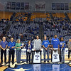 Tribune-Star/Jim Avelis<br /> Seniors: Saturday was Senior Day for Indiana State University basketball players and their support staff. Seniors Jake Kelly, Isiah Martin and Aaron Carter along with two student managers were honored.