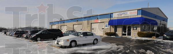Tribune-Star/Jim Avelis<br /> More work: Honey Creek Collision on West Johnson Drive  has seen an uptick in business from to fender bender accidents afterthe freezing rain and following weather hit last week.